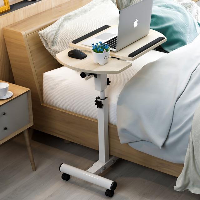 בית מתקפל נייד שולחן מתכוונן לצד שולחן מחשב שולחן מתקפל בית שולחן מחשב נייד מיטת צד מחקר שולחן מטלטלין מיטת שולחן