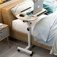 Home Foldable Laptop Table Adjustable Beside Table Computer Desk Folding Home Laptop Desk Bed Side Study Table Movable Bed Table