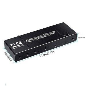 Image 5 - Uhd hdmi 2.0 switch 4 k hdr 4x1 adaptador switcher com extrator de áudio 3.5 jack cabo fibra óptica arco divisor para hdtv ps4