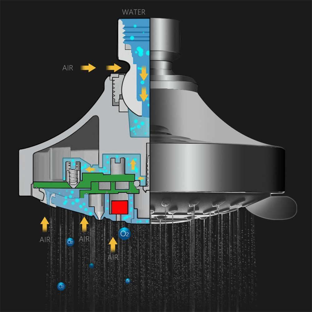 シャワーヘッド高圧 4 インチ 5 設定調節可能なシャワーヘッド壁マウントシャワースイベルジョイント調節可能な蛇口 #