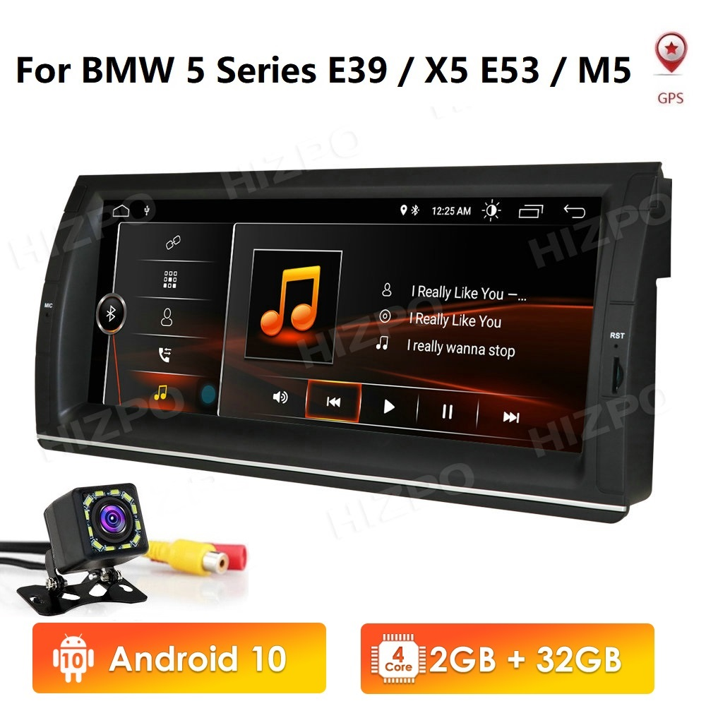 10.25''Android 10 2GB+32GB <font><b>Car</b></font> DVD <font><b>PLAYER</b></font> For BMW X5 E53 E39 GPS stereo audio navigation <font><b>multimedia</b></font> screen head unit <font><b>1din</b></font> no dvd image
