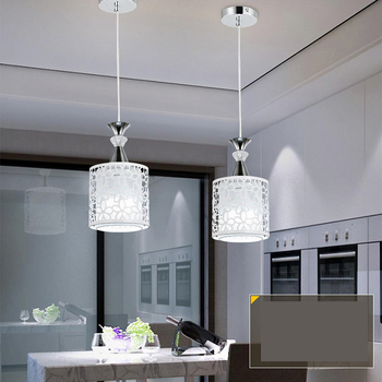 Restaurant Pendant Led Single Head Personality Glass Table Bar Lamp Modern Chandeliers candle holders