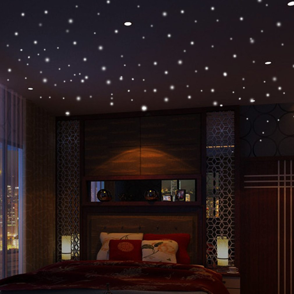 407pcs светятся в темноте звезды круглое пятнышко световой стены стикеры детская комната декор наклейки на стены стикеры съемный самоклеющиеся