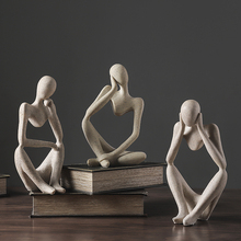 Nordic Abstract Character Miniature Figurines Decor Indoor Living Room Office Statue Ornament Modern Home Decoration Accessories недорого
