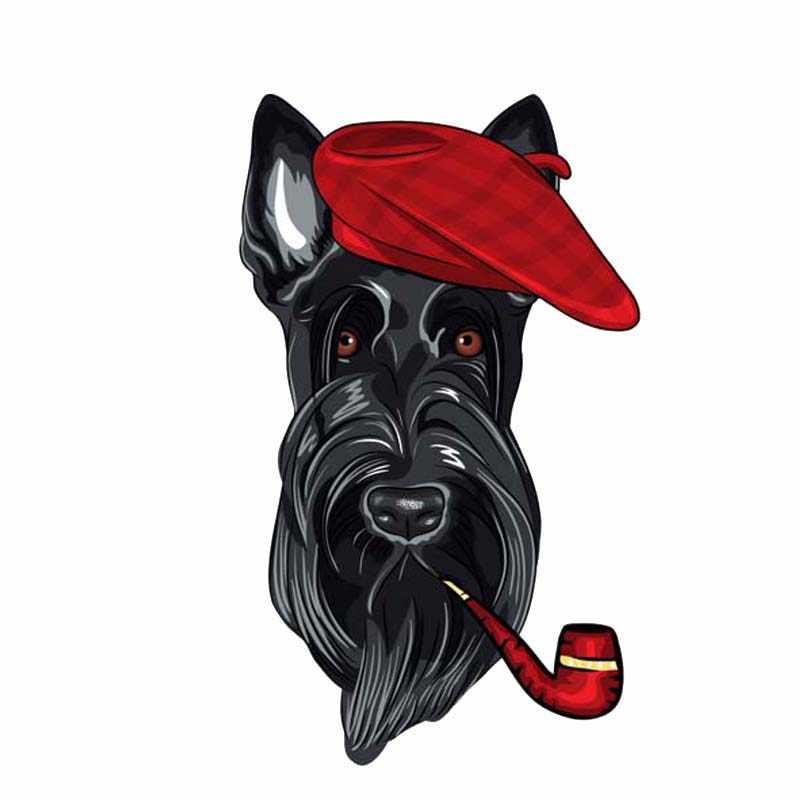 Aliauto Cretive 車のステッカー犬赤キャップ自動車オートバイデコレーション漫画 Pvc デカールカバー傷、 14 センチメートル * 8 センチメートル