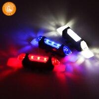 LOVELION USB opladen mountainbike lichten achter en achter LED waarschuwingslichten rijden accessoires