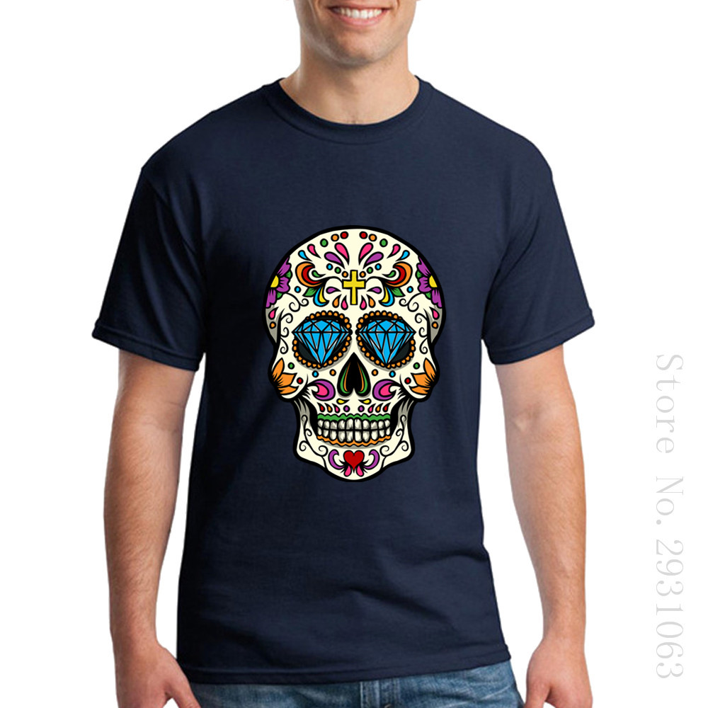 ChampionS For Man 3d T Shirts Sugar Skull Mexican High Quality Tee TShirts Cotton T-Shirts Camisetas Cannon Feyenoord Male Guccy