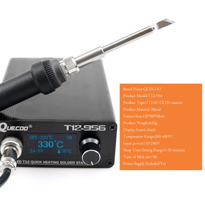 Image 5 - T12 956 OLED STC 1.3 inch Digital display soldering station big screen With T12 907 Plastic handle and K solder iron tip