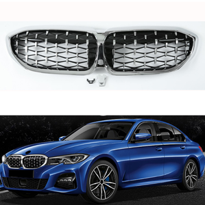 New Diamond Style Grill For BMW New 3 Series G20 Racing Grills Front Kidney Grille|Chromium Styling|   -