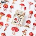 45 teile/schachtel Pilz anlage papier aufkleber paket DIY tagebuch dekoration aufkleber album scrapbooking-in Aufkleber aus Heim und Garten bei