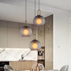 Nowoczesna szklana lampa wisząca Nordic jadalnia oświetlenie kuchni projektant lampy wiszące Avize Lustre Lighting w Wiszące lampki od Lampy i oświetlenie na