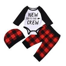 Рождественская Одежда для маленьких мальчиков комбинезон с длинными