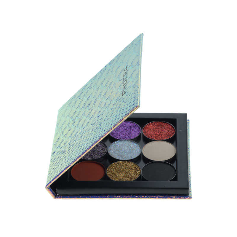 PHOERA eye shadow magnetic attraction storage box makeup palette empty eye shadow box magnetic palette glitter patterns TSLM1