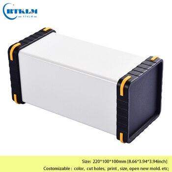 Алюминиевый корпус DIY корпуса для электроники, алюминиевый распределительный ящик алюминиевый кабель питания чехол 220*100*100 мм