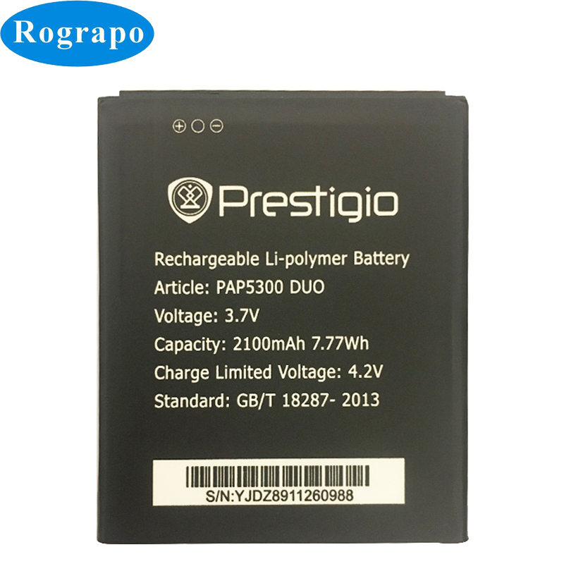3.7V 2100mAh PAP5300 Replacement Battery For Prestigio PAP 5300 PSP5307 DUO PAP5300DUO Bateria Batterie Mobile Phone Batteries(China)