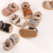 Toddler Baby Summer Soft Sole Shoes Newborn Infant Baby Girls Boys Sandals Shoes Leopard Non-slip PU Leather Breathable Shoes