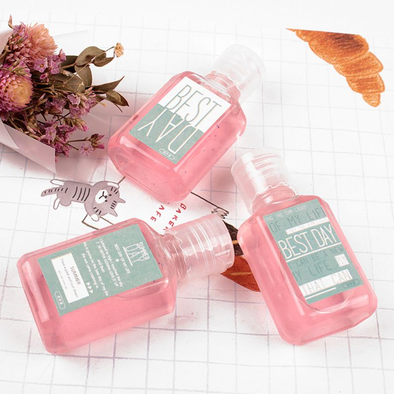 30ml Summer Fresh Jelly Candy Color Mini Hand Sanitizer Anti-Bacteria Fruit-Scented Disposable No Clean Waterless Shampoo Cleans