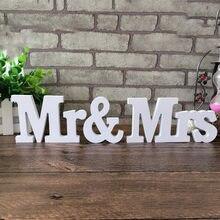 Decoração de mesa para casamento, 1 conjunto/3pçs, decoração de letras de senhor. & sra. decorações de mesa para casamento, dia dos namorados sinal de casamento quente