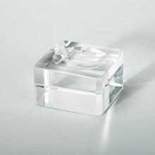 купить False Eyelash Glue Holder Mink Lashes Adhesive Stand Extension Crystal Glass Glue Pallet High Quality Eye Lash Glue Plate 1pc дешево