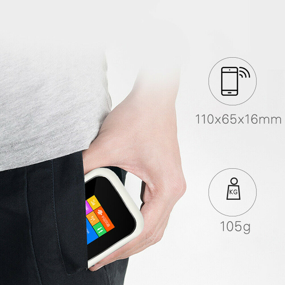 JHYZX MF904LCD Portable 4G LTE WIFI Router 150Mbps Mobile Broadband Hotspot SIM Unlocked Wifi Modem 2.4G Wireless Router