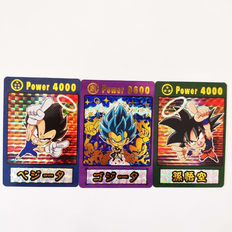 3pcs/set Dragon Ball Super Q Wafers Bronzing Super Saiyan Goku Vegeta Hobby Collectibles Game Collection Cards