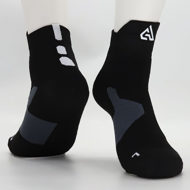 Adult Size Mid Calf Crew Socks Giannis Antetokounmpo Black Greek Athenian Small Power Forward Cotton Sox Towel Bottom Men's Sock