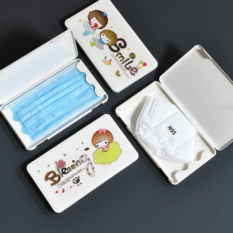 Mask Storage Box Small Portable Artifact Waterproof Adult Children Mask Temporary Storage Box Student outdoor travel Mask holder(China)