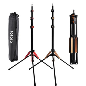 Fusitu FT-195 2M Led Folding Light Stand 1/4 Screw Tripod For Photo Studio Photographic Lighting Softbox Video Flash Umbrellas