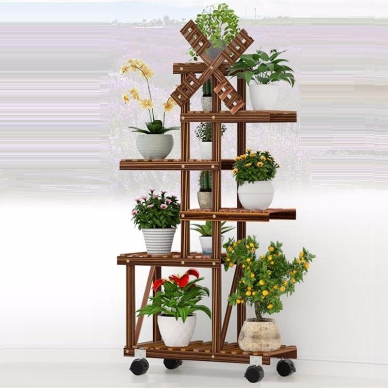 Estante Para Shelf For Estanteria Plantas Huerto Urbano Madera Plant Rack Outdoor Stojak Na Kwiaty Dekoration Flower Stand