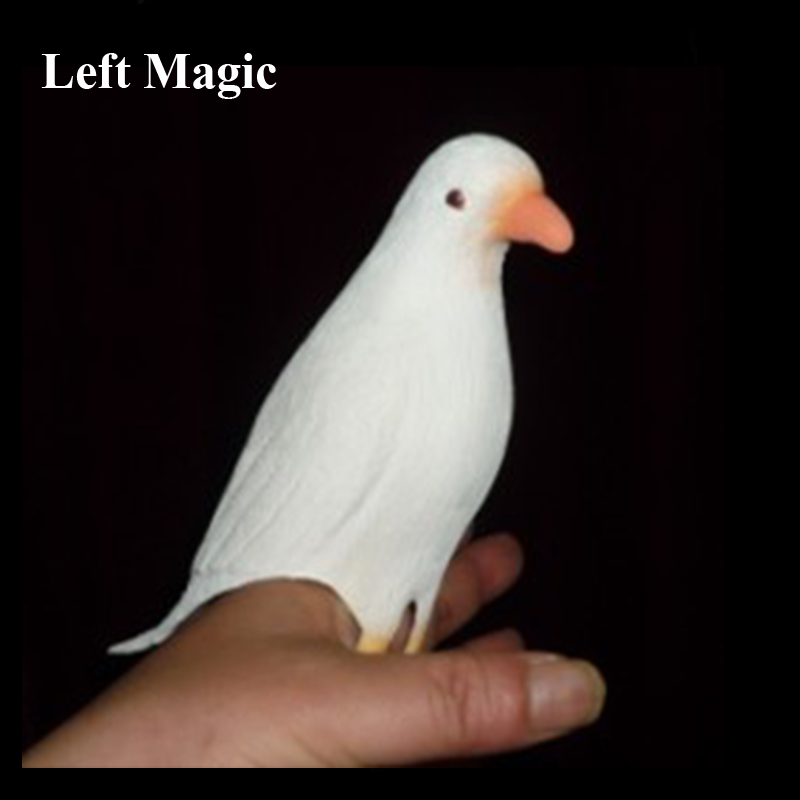 Vanishing Dove (latex) Fake Rubber Dove Magic Tricks Appearing Vanishing Magia Stage Close-Up Illusions Props Accessories Comedy