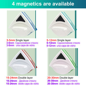 Image 2 - Magnetic Window Brush Glass Cleaner Brush Tool Window Wipe Double Side Magnetic Glass Brush for Washing Household Cleaning Tool