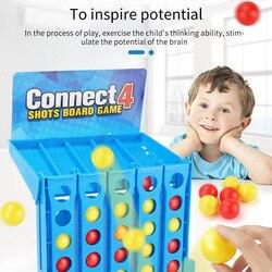 Conjunto de jogo de tabuleiro para conectar 4 jogos, quebra-cabeça educacional para crianças, brinquedo de basquete e tiro