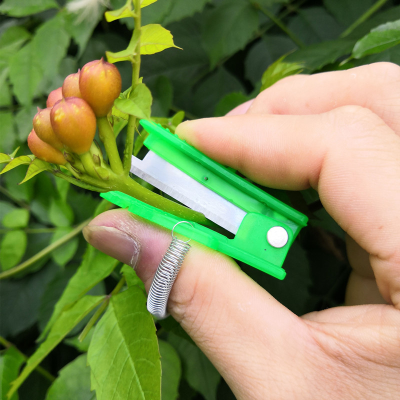 Mini Garden Pruner Fruit Picking Device Multifunction Thumb Knife Safe Fruit Blade Tool Cutting Blade Rings Finger Protector