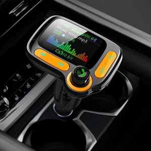 Image 2 - Deelife רכב MP3 נגן Bluetooth לרכב משדר FM מודולטור עם צבע מסך AUX אוטומטי מוסיקה מתאם QC 3.0 USB מטען
