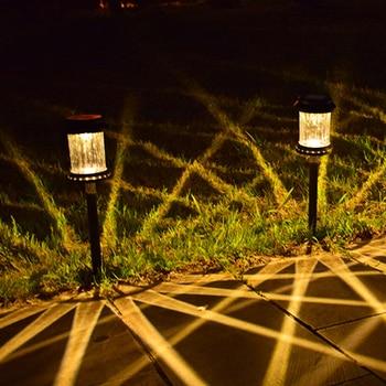 цена на Outdoor LED Solar Lights Garden Pathway Lawn Yard Decor Lighting Automatically RechargingFence Landscape Smart Lamp