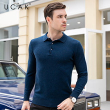 UCAK Brand Sweaters Men 2019 Autumn Winter Thick Warm Pull Homme Pure Merino Wool Cashmere Streetwear Casual Pullover Male U3088