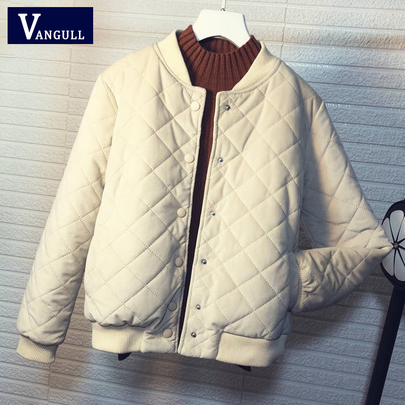 Vangull Women   Basic     Jacket   New Winter Fashion Clothing Velvet Slim Outerwear Long Sleeve Autumn Female Coat Baseball Uniform