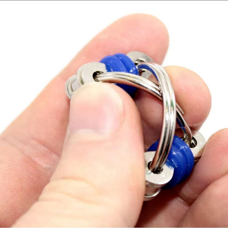 Toys Bike-Chain Fidget-Toy Autism Stress Hands ADHD Children for Funny 1PC 5-Colors Creative img3