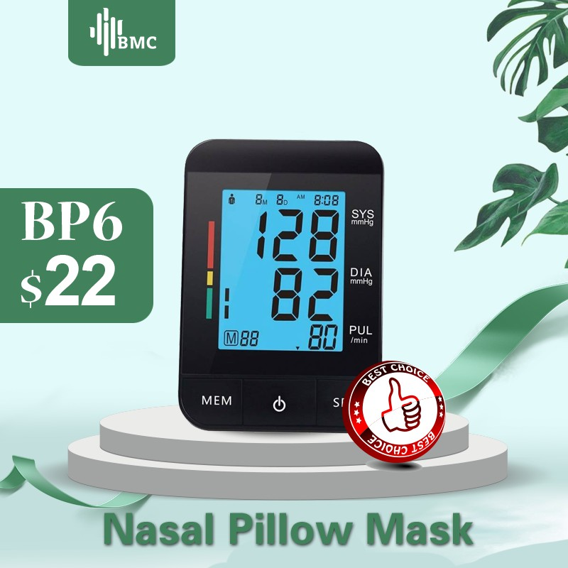 BMC Blood Pressure Monitor Upper Arm Digital Electronic Automatic Sphygmomanometer BP Blood Pressure Meter LCD Display Tonometer