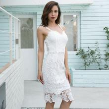 Spring and summer new style Explosive sexy slim dress Lace suspender women party
