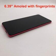새로운 AMOLED 디스플레이 6.39 xiaomi Redmi K20 PRO MI9T LCD 터치 스크린 디지타이저 지문 어셈블리 Xiaomi Mi 9T