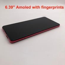 Yeni AMOLED ekran 6.39 Xiaomi Redmi K20 PRO MI9T LCD dokunmatik ekran Digitizer parmak izi meclisi için Xiaomi Mi 9T