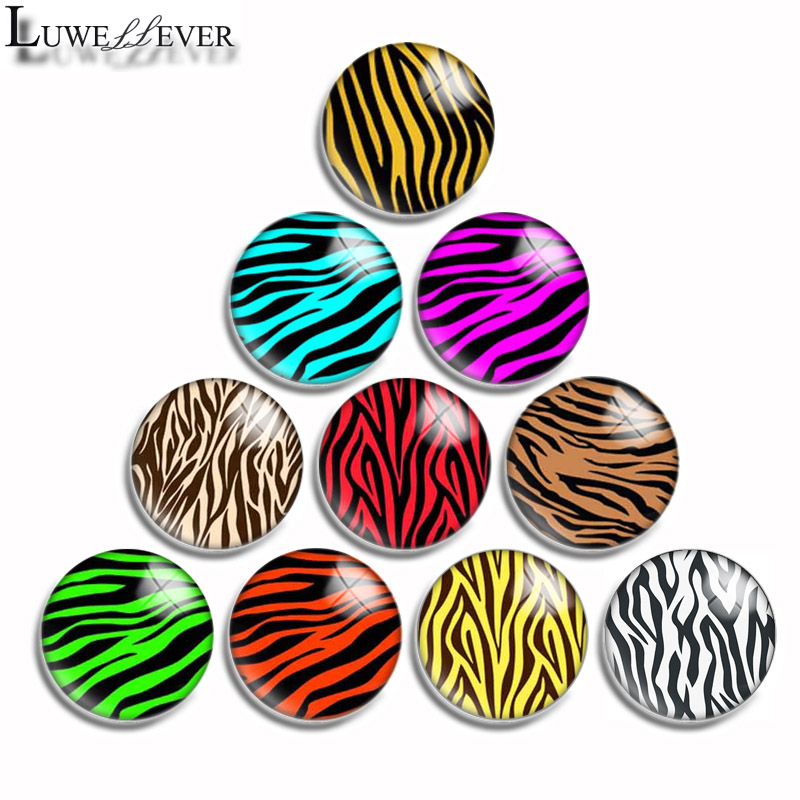 1mm 10mm 16mm 20mm 25mm 30mm 546 Zebra Mix Round Glass Cabochon Jewelry Finding 18mm Snap Button Charm Bracelet
