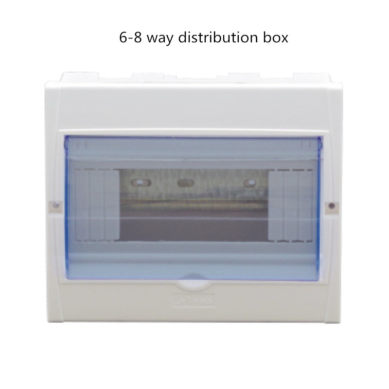 1pcs 6-8 Ways Distribution Protection Box For DZ47 Circuit Breaker Indoor Wall Mounted Plastic Transparent Cover