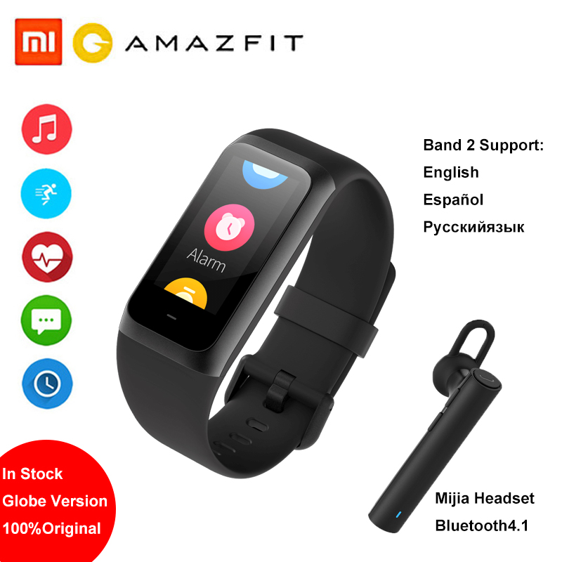 <font><b>Amazfit</b></font> Band <font><b>Cor</b></font> <font><b>2</b></font> Smart watch 5ATM Waterproof <font><b>2</b></font>.5D Color Stainless Steel Frame For Android IOS Huami smartwatch <font><b>Bracelet</b></font> image