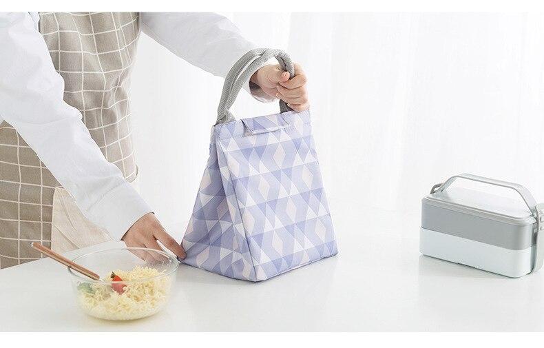 Bolsa tote almoço sacos isolados portáteis bolsa