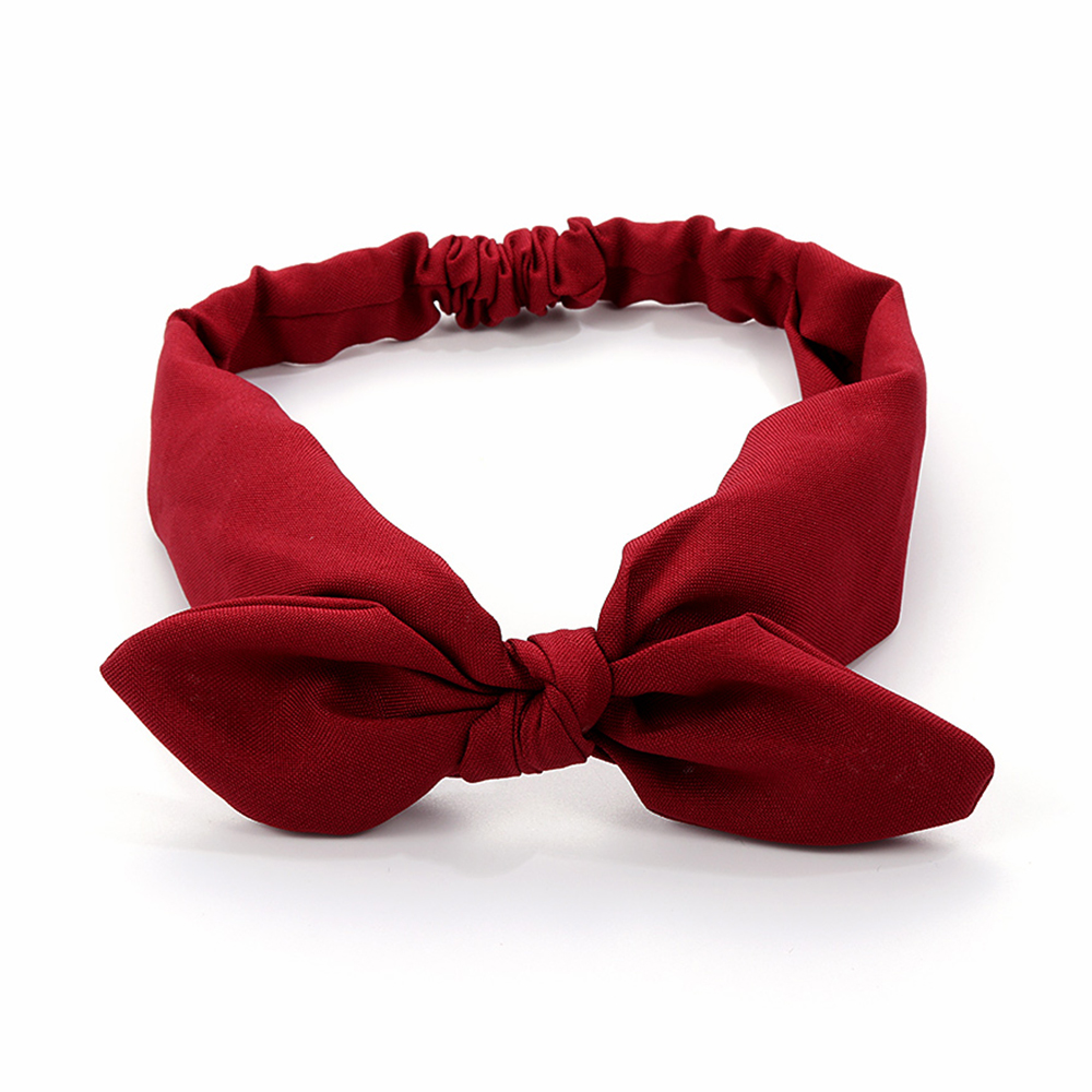 Knotted Solid Colors Headwrap Rabbit Ears Hairband Turban Bowknot Headband