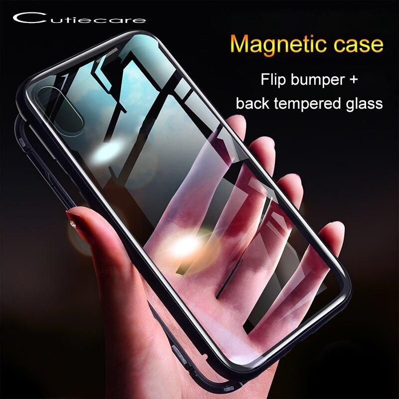 Magnetic Case For Xiaomi Redmi Note 7 6 5 Pro 7A K20 Mi 9 SE 8 Lite A3 A2 Mi 9s 5G 9t Cc9 F1 Mi9t Tempered Glass Magnetic Case