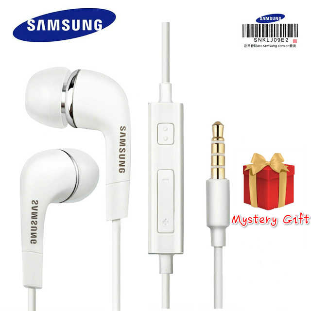 3.5 Mm Samsung Earphone EHS64 Headset dengan Built-In Mikrofon In-Ear Wired Earphone untuk Smartphone dengan Hadiah Gratis