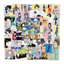 50 Uds. De pegatinas de belleza Retro Sweetheart con chicas de Anime Otaku, ilustración de bienestar para funda de portátil, pegatina de Graffiti, calcomanías estéticas
